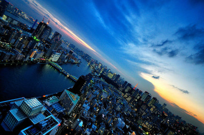 Tokyo Bay Area at Dusk by hidesax on Flickr.