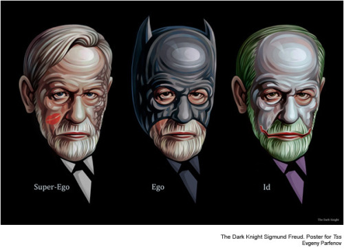 psychcomedy:  seithas:  The Dark Knight Sigmund Freud by Evgeny Parfenov  Like us also on Facebook.