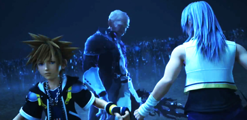 "neku-was-listening-to-music-but:  charmsxmemories:  ((Sora's face is just pure ""Theres someone behind me Isn't there?))   It is now a icon."