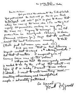 "F. Scott Fitzgerald wrote this letter to his editor, Max Perkins, when he set out to write The Great Gatsby. He included these words:  ""I want to write something new — something extraordinary and beautiful and simple & intricately patterned."""