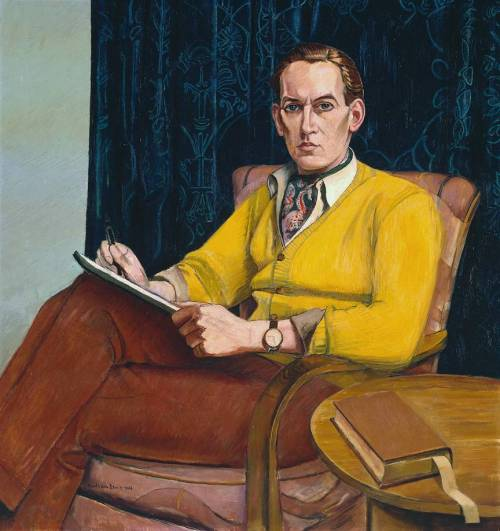 journalofanobody:  Nigel Tangye, by Wyndham Lewis, 1946  WALL space………..No.10