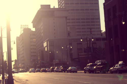 Downtown Memphis sunset