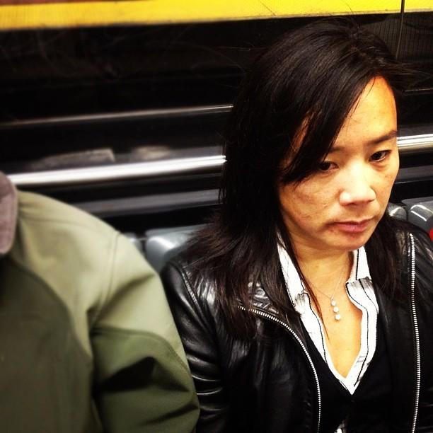 Don't make eye contact on the L. #latergram #sf #sanfrancisco #muni #necklace (Taken with Instagram)