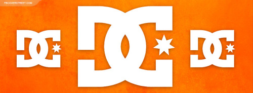 DC Shoes Logos Huge Orange Facebook Cover
