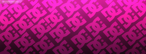 DC Shoes Logo Pattern Pink Facebook Cover