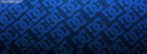 DC Shoes Logo Pattern Blue Facebook Cover