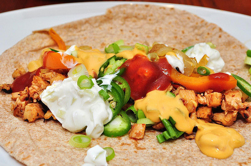 cravingsforfood:  Chicken fajitas.