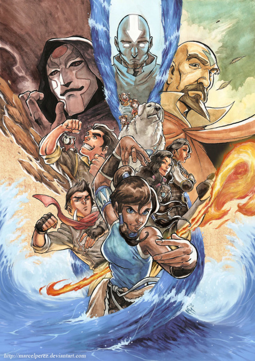 reruko:  Legend of Korra - Poster by *MarcelPerez