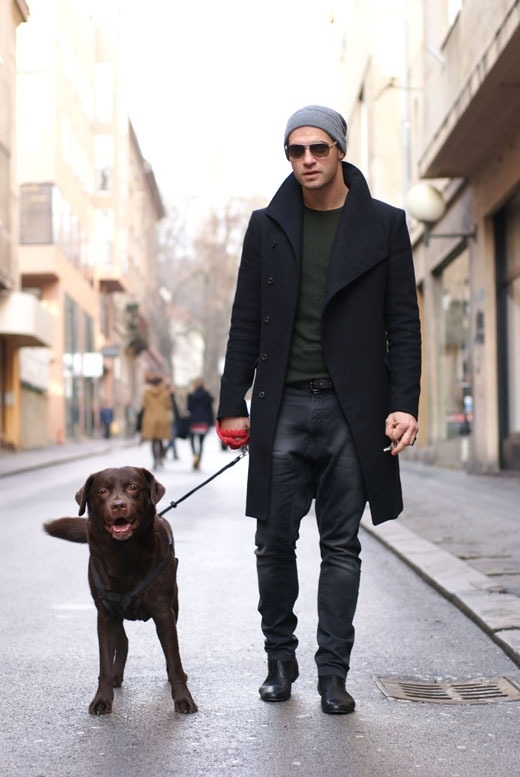 Slim Fit Black coat