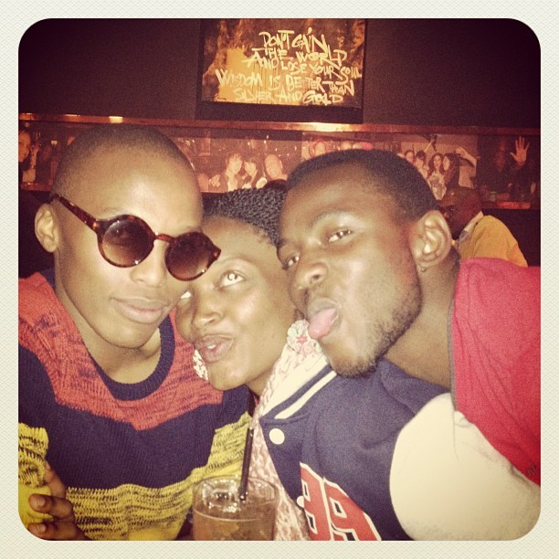 Me (on the far right) with my long-lost friend from high school, Thabiso, and my bestie, Jam, at Six in Melville last night. Merlot, Heineken, Jäger-bombs, caramel vodka and nachos. For a Monday, 'twas pretty raucous.