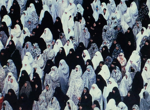 Iranian women perform Friday prayers in Tehran, Vahid Salem