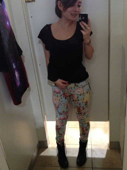 I bought floral pants today. Opinions? Thoughts?