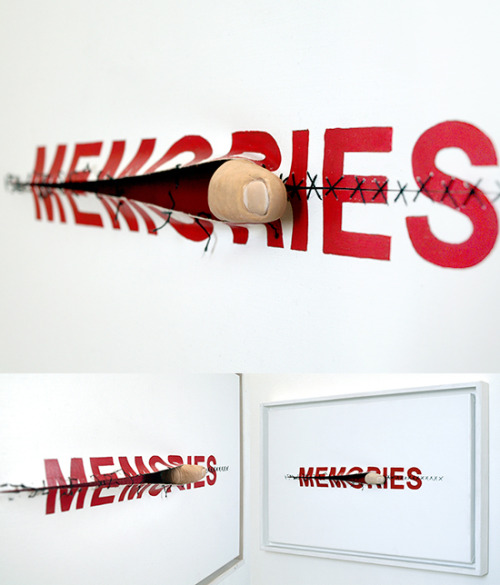 "visual-poetry:  ""memories"" by anatol knotek find more of my text-objects here: http://www.anatol.cc/objects_en.html"