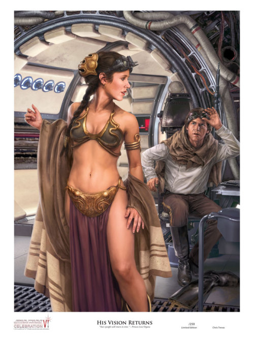 swnz:  Celebration VI art print, by Chris Trevas.   Han couldn't have picked a better moment to get his vision back.