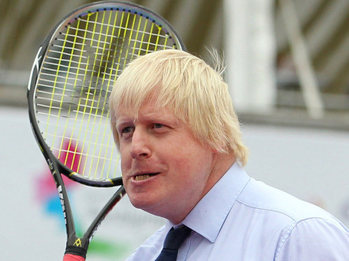 Boris plays tennis
