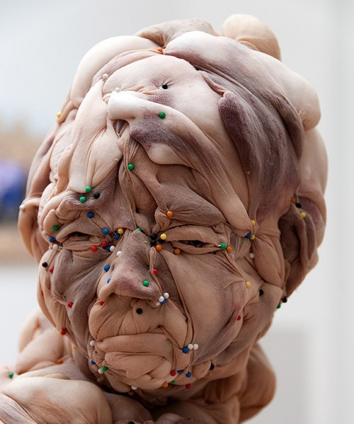 Bizarre nylon sculptures by Rosa Verloop.