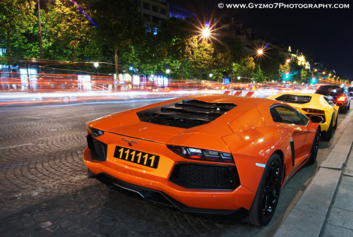 automotivated:  Lamborghini Aventador LP700-4 x2 - Paris (by Ghislain Balemboy | Gyzmo 7)