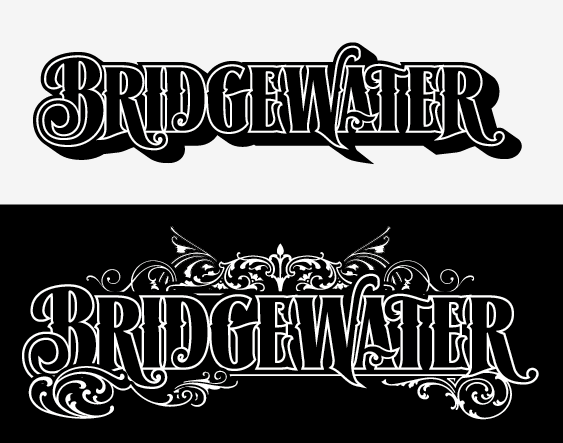 Identity for Bridgewater band, in 2 versions