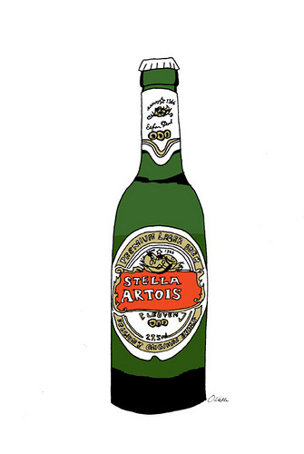 Friday, I'm in Love Stella Artois (aka my weekend plans) illustrated by Oda Valle :: via soldierjane