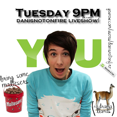 pirouettesfromwalkingstrangers:  today first danisnotonfire younow liveshow, so I made this! :D   Remember when I actually made edits and that sort of stuff. (I was worse than in my memory.)