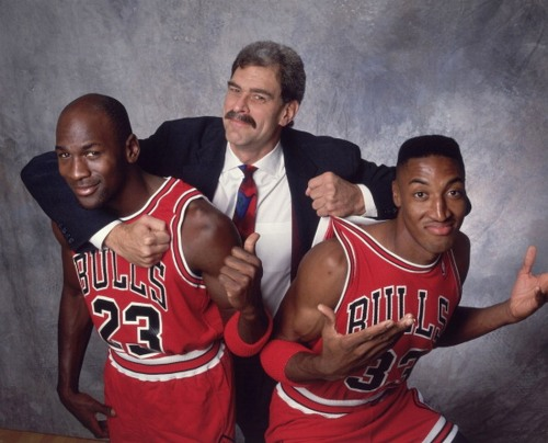 silentskyking:  nbaoffseason:  upnorthtrips:  RUNNING WITH THE BULLS  There are not many player-coach photos that are better than this one  Haha dope pictures!!   heyitzcapone:  This picture is Dope aha !