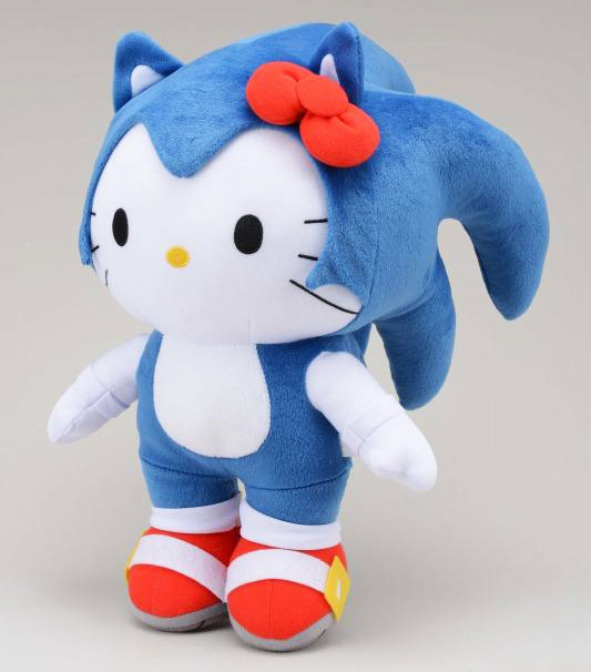Hello Kitty the Hedgehog, the result of a collaboration between Sega and Sanrio, which promises more items of this cute nature. Sega will make this plushy available at its amusement centers in Japan later this month — the companies intend to bring their mash-up products to other countries some time next year. Buy: Sonic Generations (PS3, Xbox 360, and 3DS)  See also: More Sonic posts [Via Inside Games]