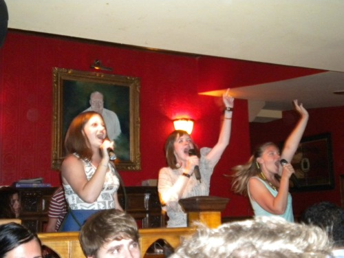 I'm going to miss karaoke nights at George Payne Irish Bar.