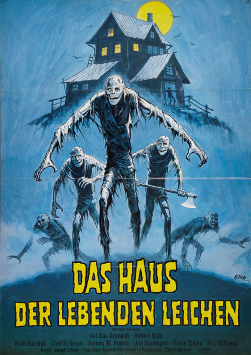 "German poster for 1980 zombie flick ""Don't Go In the House"" Don't Go in the House on Amazon"