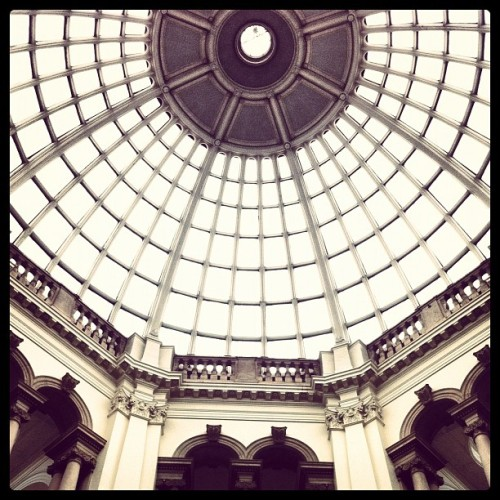 Looking up #up #building #architecture #black #instagram #instaphoto #tate #iphone #moody #windows #london (Taken with Instagram)