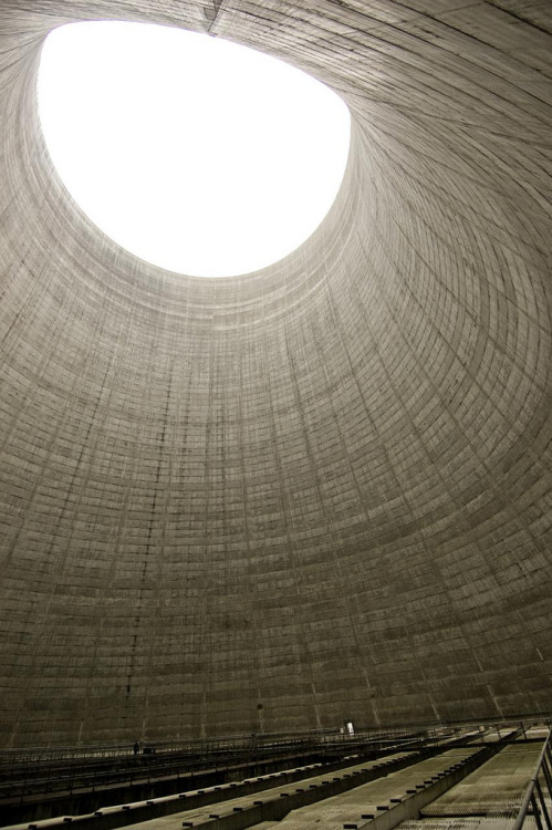your-so-right-i-left:  abandonedporn:  Inside an inactive cooling tower (by NW-X)  I can't imagine the acoustics of this place