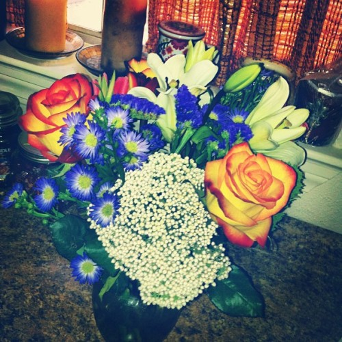 Surprise flowers from @michaelwmorris  💗💗💗 (Taken with Instagram)