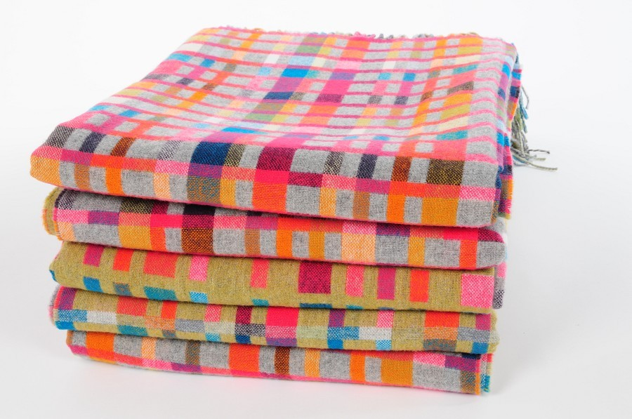 Blankets and scarves by Holly Berry.