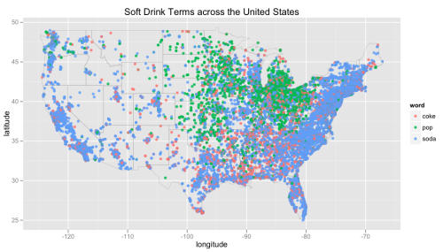 "theatlantic:  The ""Soda"" Vs. ""Pop"" Vs. ""Coke"" Debate, Visualized By Tweets  A hundred years from now ""pop"" will be so antiquated that there will be footnotes in texts explaining it."