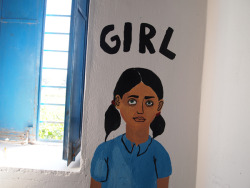 Mural. Volunteer project in a school in Rajasthan, India. Click to view large!