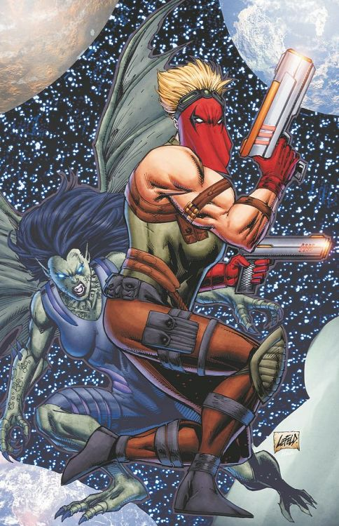 Sorry, looking at Rob Liefeld art today.This would actually be a pretty good image of Grifter and that other lady…if Grifter's image wasn't on top of the other lady's for some reason.