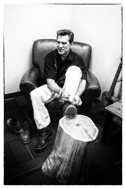 "llbeanpr:  Chris Isaak trying on his new L.L.Bean Signature Bean Boots (photo courtesy of @flyingpoint).  Chris put on a fantastic free show Saturday night at L.L.Bean Freeport.  Just me and 20,000 of my closest friends. :)  ""What a 'wicked-good' game you played…"""