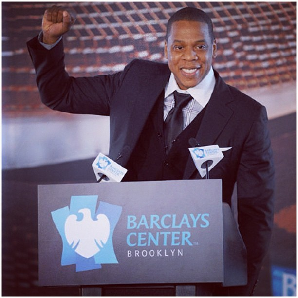 Jay-Z first concert at the Barclays Center on September 28 (Taken with Instagram)