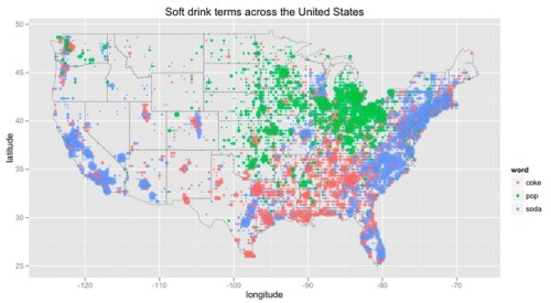 Map of the Day: Soda vs. Pop vs. Coke Coke Country represent.