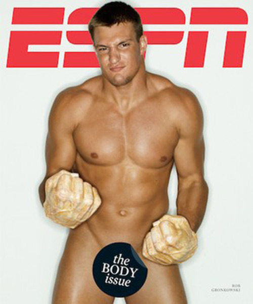 2minutedrill:  Rob Gronkowski gracing the cover of ESPN's Body Issue.   Just became a Patriots fan.