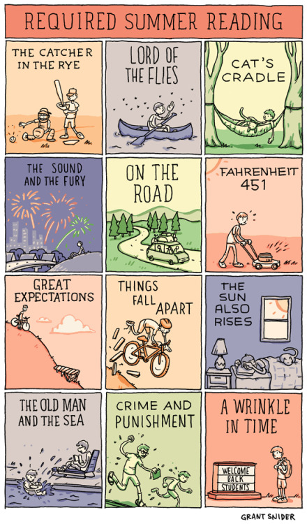 incidentalcomics:  Required Summer Reading  Just a little something.