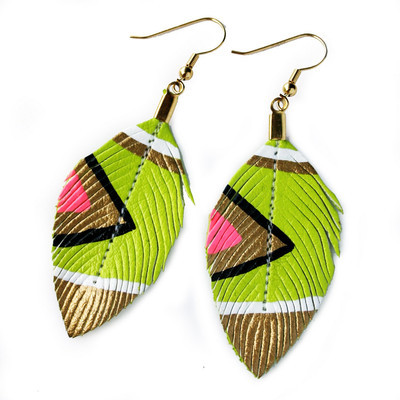 Neon, tribal earrings… $25 Etsy Earrings