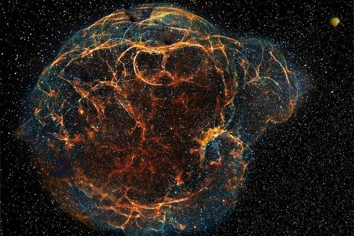 "thescienceofreality:  Simeis 147 (Spaghetti Nebula) and Sh2-242Image Credit : Emil Ivanov""Simeis 147 (Spaghetti Nebula, or Sharpless 2-240) is a large supernova remnant in the constellations of Taurus and Auriga. It's a result of supernova explosion about 40 000 years ago. This nebula covers about 3° and is approximately 3000 light years away which means that the real size is about 140 light years.."" [via Milky Way Scientists]   Learn more here."