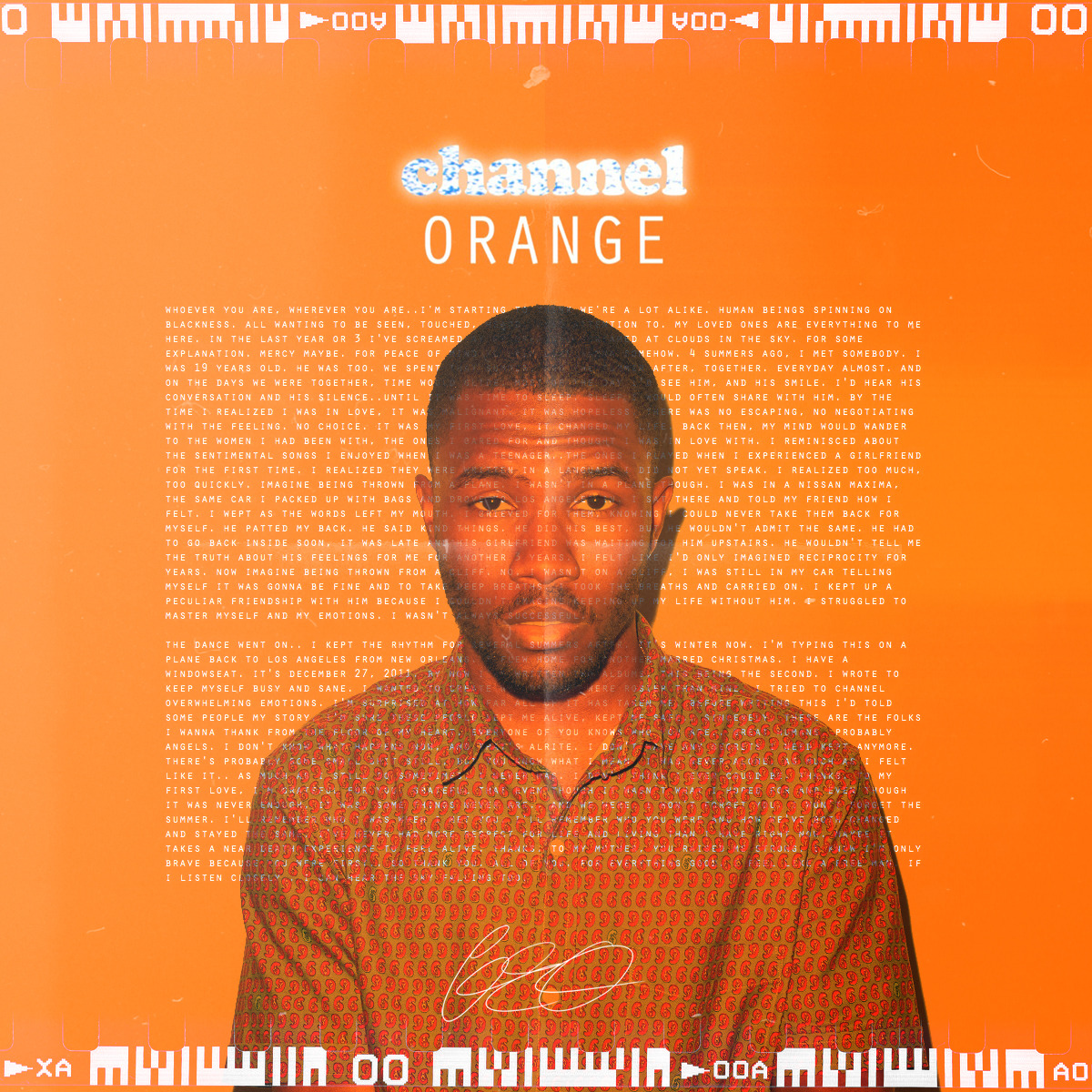 Frank Ocean - Channel Orange X Geo Designs One
