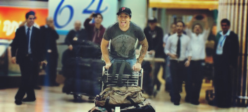 myzebraprintedworld:  Pierre at the airport in Israel <3Taken by Dana, edited by me.