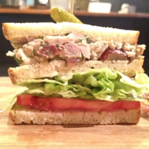 Bluebird Lunch. Introducing our new line of club sandwiches (Taken with Instagram)