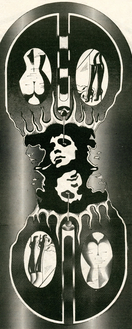 Lou Reed illustration by Bazzin for The Staff (1972)
