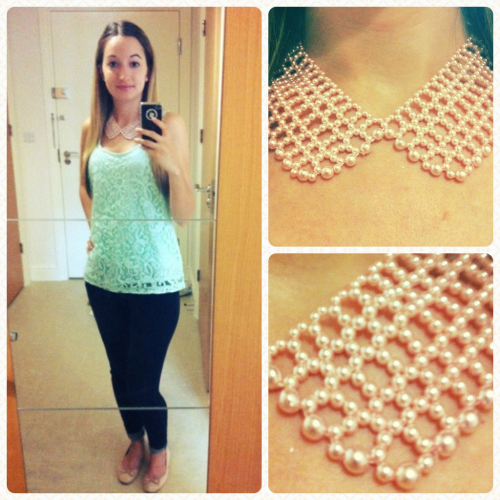Love my necklace from the Topshop sale!