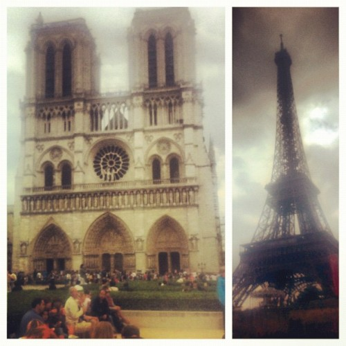 ::kanye voice:: I'm in Paris…I'm just sayinnnn. #france #paris #notredame #eiffeltower  (Taken with Instagram at Paris, France)