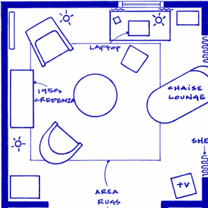 A friend just informed me about Fantasy Floorplans, the website of an EXTREMELY talented and pop culture savvy former interior designer who decided to use her talents to create blueprints of her favorite TV homes & offices. Go! Explore! And then help me decide if the blueprint of Carrie Bradshaw's studio or Monica Gellar & Rachel Green's two bedroom would look better hanging on my wall.