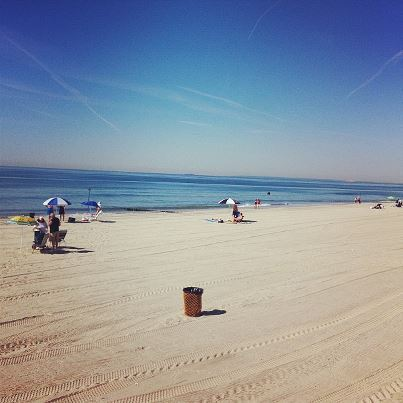 A serene beach shot of Rockaways Beach this morning ..so nice…